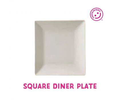 Paint your own Square Dinner Plate