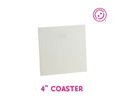 """Paint your own 4"""" Coaster"""