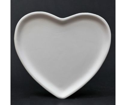 Paint your own Heart Plate (20cm)
