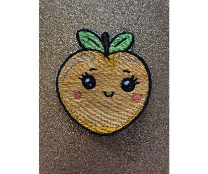 Kawaii Peach iron-on patch or shoe lace patch