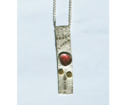 Footprints in the snow pendant