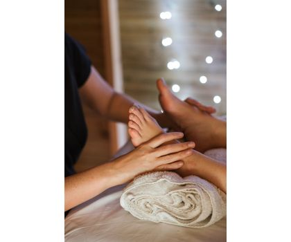 Full body massage with facial massage.