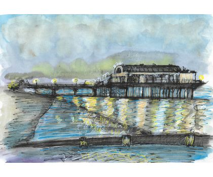 Cleethorpes pier in winter light
