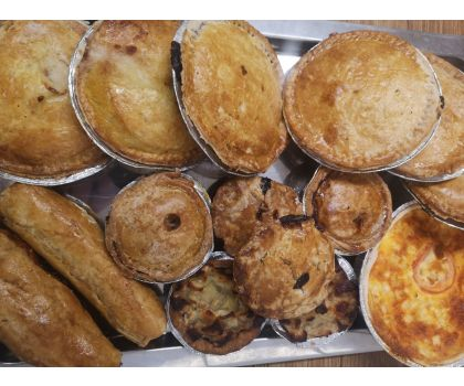 Selection of 7 Fresh Homemade Pies & Quiches