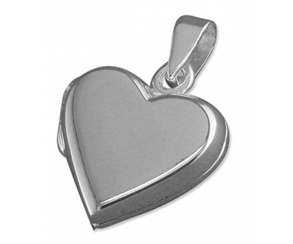 """Sterling Silver Heart Shaped Locket with 18"""" chain"""