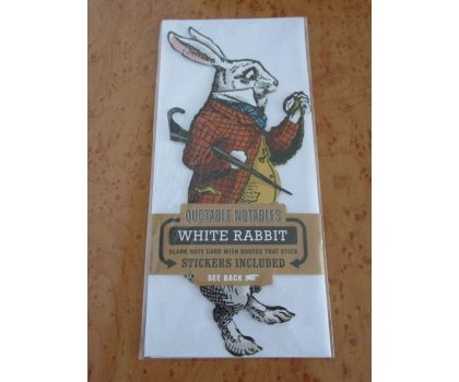 The White Rabbit Quotable Notable Card