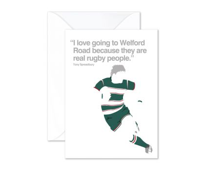 Leicester Tigers Rugby Greeting Card