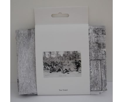Rugby Football Black and White Tea Towel