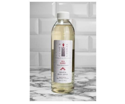 Clive's Candles, Sea Shore, Salt Wood & Seaweed Hand & Body Wash Refill, 400 mls, approximately 200 hand washes & over 70 showers