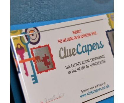ClueCapers Outdoor Escape Game Voucher - for Percy's Paradox, peak time, one team