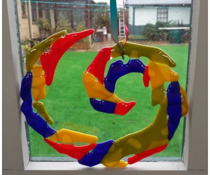Hanging Swirl in Bold Colours