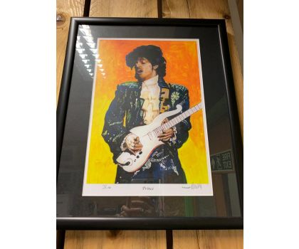 Prince limited edition singled and numbered Howell print one of 50 only framed
