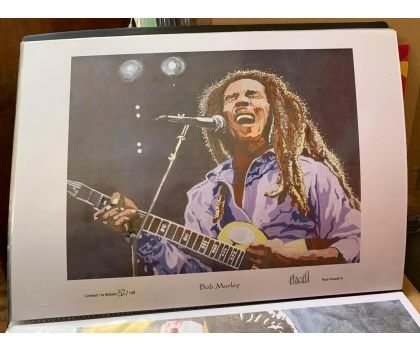 Bob Marley limited edition Howell print signed numbered